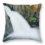 Upper Mccloud Falls 2 Throw Pillow