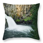 Upper Mccloud Falls Throw Pillow