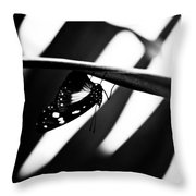 Upside Down Butterfly Throw Pillow