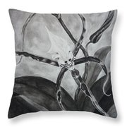 Upside-down Orchid Throw Pillow