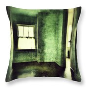 Upstairs Hallway In Old House Throw Pillow by Jill Battaglia