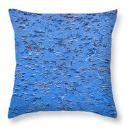 Urban Abstract Blue Throw Pillow