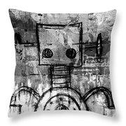 Urban Bot Throw Pillow
