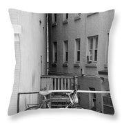 Urban Convergence Black And White Throw Pillow