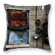 Urban Gritty Throw Pillow