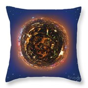 Urban Planet Throw Pillow
