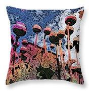 Urban Poppy Throw Pillow