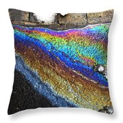 Urban Rainbow 2 Throw Pillow by Dale   Ford