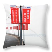 Urban Road In China Throw Pillow