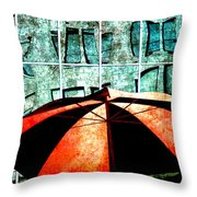 Urban Umbrella Throw Pillow