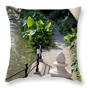 Urn And Pathway Throw Pillow