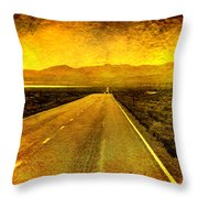Us 50 - The Loneliest Road In America Throw Pillow