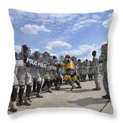 U.s. Air Force 86th Security Forces Throw Pillow by Stocktrek Images