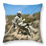 U.s. Air Force Airman Practices Throw Pillow