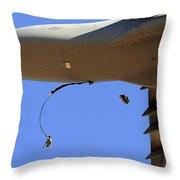 U.s Air Force Airmen Parachute Throw Pillow