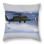 U.s. Air Force Hh-60 Pave Hawks Conduct Throw Pillow