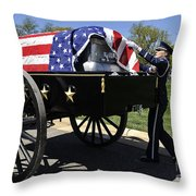 U.s. Air Force Honor Guard Straightens Throw Pillow