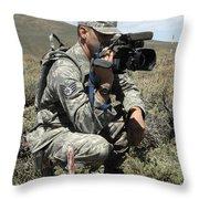U.s. Air Force Sergeant Shoots Video Throw Pillow