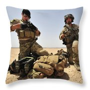 U.s. Air Force Soldiers Gather Throw Pillow