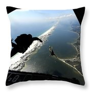 U.s. Airmen Jump Out Of A C-130 Throw Pillow