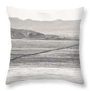 U.s. Alt-89 At Vermilion Cliffs Arizona Bw Throw Pillow