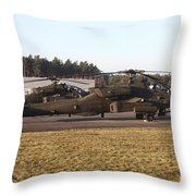 U.s. Army Ah-64d Apache Helicopters Throw Pillow