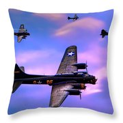 Us Army Air Corps B17g Flying Fortress Throw Pillow