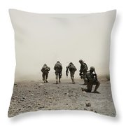 U.s. Army Captain Provides Security Throw Pillow