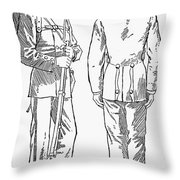 U.s. Army: Fatigues, 1882 Throw Pillow by Granger