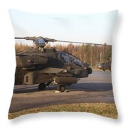 U.s. Army Helicopters At The Letzlingen Throw Pillow