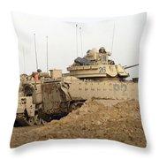 U.s. Army M2 Bradley Infantry Fighting Throw Pillow