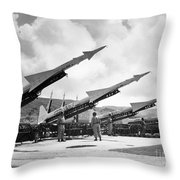 U.s. Army Missiles, C1965 Throw Pillow