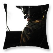 U.s. Army Officer Speaks To A Pilot Throw Pillow