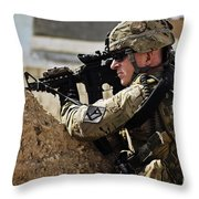 U.s. Army Sergeant Pulls Security While Throw Pillow