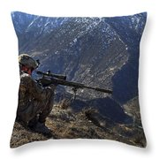U.s. Army Sniper Provides Security Throw Pillow