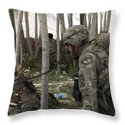 U.s. Army Soldier Communicates Possible Throw Pillow