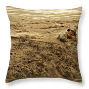 U.s. Army Soldier Fights Racing Water Throw Pillow