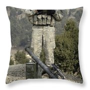 U.s. Army Soldier Gets Information Throw Pillow