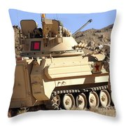 U.s. Army Soldier Jumps Off An M113 Throw Pillow