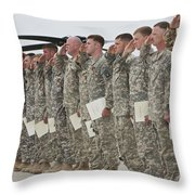 U.s. Army Soldiers And Recipients Throw Pillow