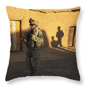 U.s. Army Soldiers Conduct A Dismounted Throw Pillow