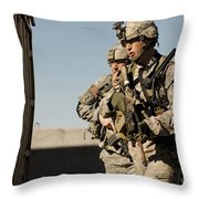 U.s. Army Soldiers Search A Site Throw Pillow