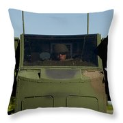 U.s. Army Specialist Operates An Throw Pillow