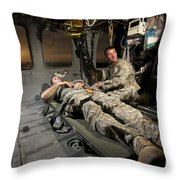 U.s. Army Specialist Practices Giving Throw Pillow