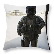 U.s. Army Uh-60l Loadmaster Confirms Throw Pillow