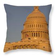 Us Capital Dome Sunset Glow Throw Pillow