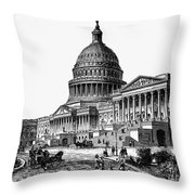 U.s. Capitol, 1884 Throw Pillow