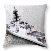 U.s. Coast Guard Cutter Stratton Throw Pillow