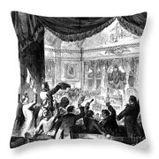 U.s. Congress: House, 1856 Throw Pillow