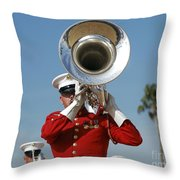 U.s. Marine Corps Drum And Bugle Corps Throw Pillow